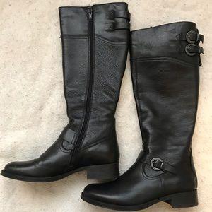 "Aldo ""Prettner"" Black Leather Riding Boot-Like New"